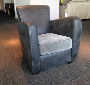 Fauteuil Alesia -a (stof pilotenleer)